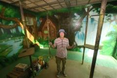おびひろ動物園リスザル舎の壁画リニューアル 越後谷さん