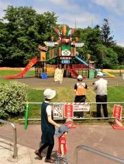緑ケ丘公園児童遊園の遊具27日供用開始
