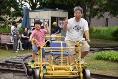 """笑顔""""満員""""鉄道まつり 陸別"""