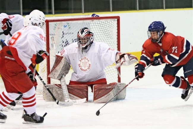 清水が白樺を下し、7年ぶりの決勝へ 全国高校選抜アイスホッケ