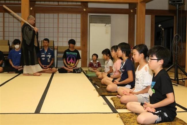 小中学生が寺院での生活を体験 帯広大乗寺で禅寺すくーる