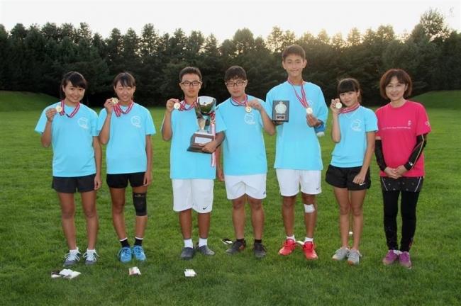 中学生チームAブロックV 中川昭一杯サマーテニス