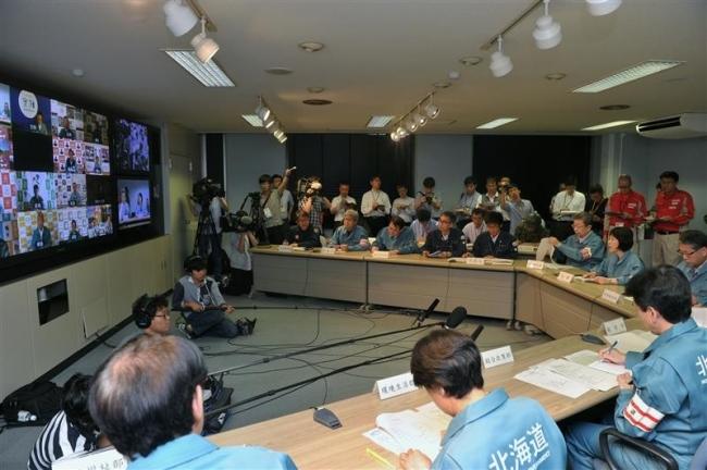 停電復旧は未定 道対策本部会議