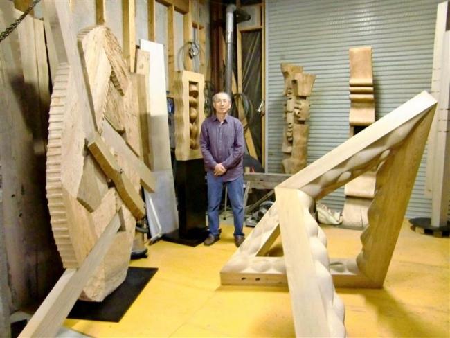 彫刻家の岡沼さん 14日から工房展