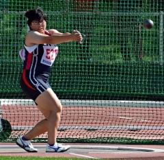 加藤(帯農)女子ハンマー優勝 40メートル54 道高校新人陸上大会