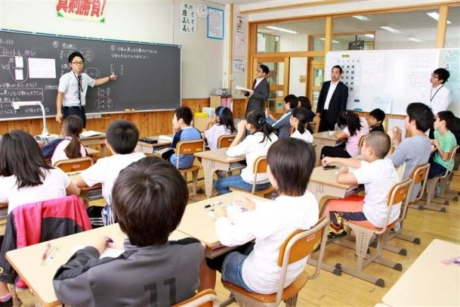 小学校で算数の実践研究公開授業 大樹
