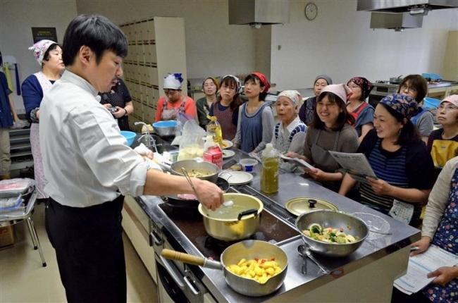 地場産品でイタリアン 帯広消費者協会が料理講習会
