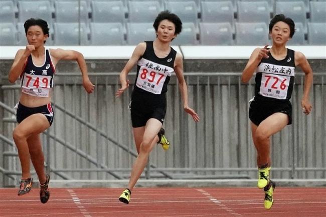 小野寺(緑南)準優勝 女子A200ジュニア五輪陸上