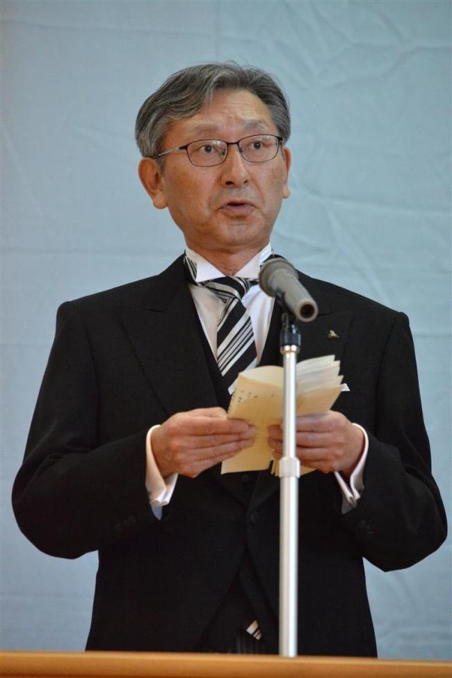 1世紀の節目祝う 池田高校創立100周年記念式典