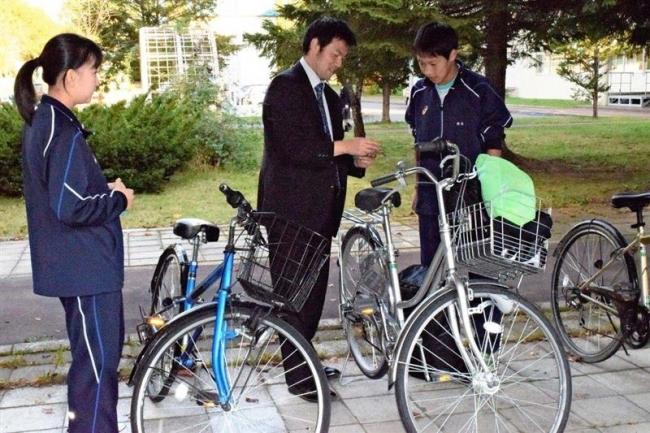 高校生の自転車防犯診断 池田