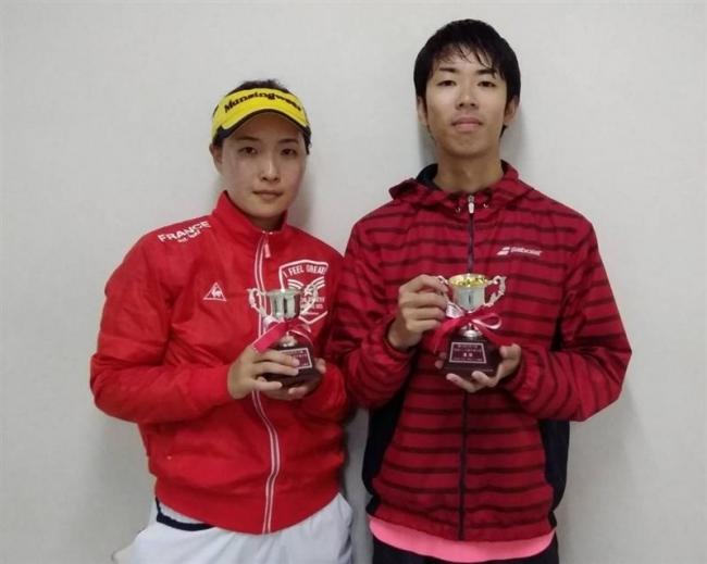 河原・大嶋組V、全十勝混複テニス選手権