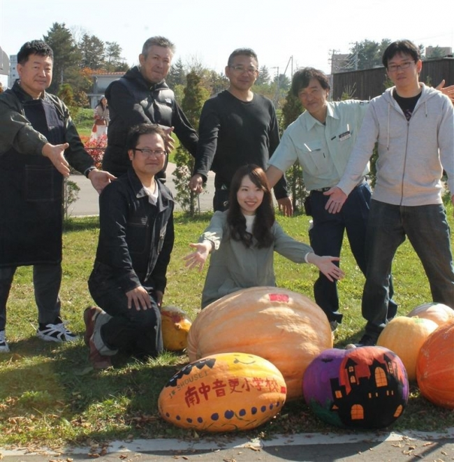 ジャンボかぼちゃコンテント 最重量は南中音更小の70キロ
