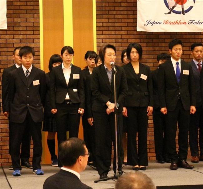 バイアスロン木綿啓太、ジュニア日本代表決定で壮行会