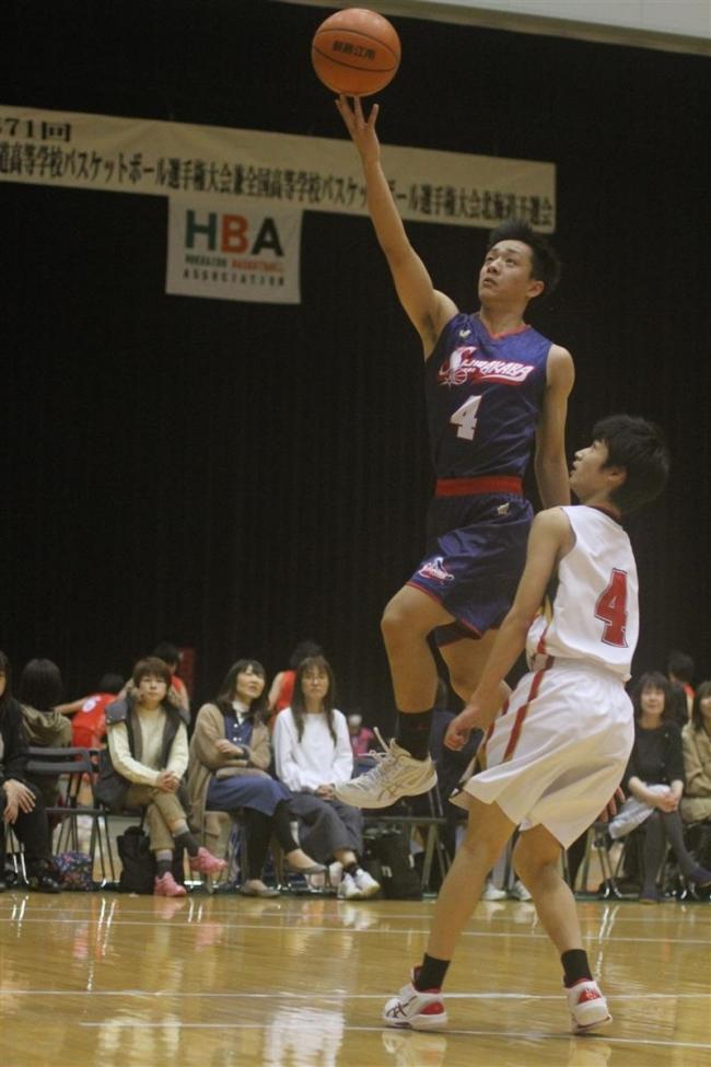 白樺学園男子初戦快勝 全国高校バスケ道予選開幕