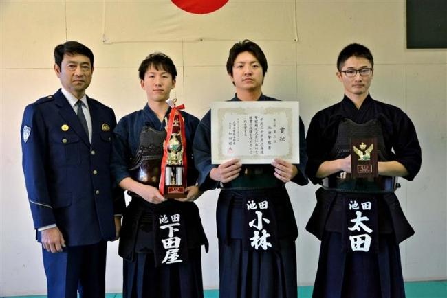 池田署が7年ぶり3位 道警剣道大会