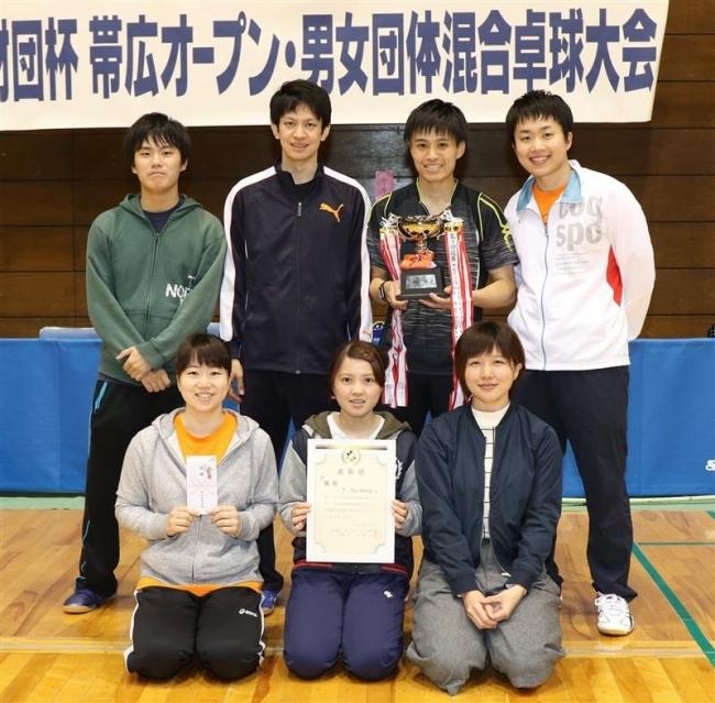 T-Alliance全勝V 財団杯男女団体混合卓球