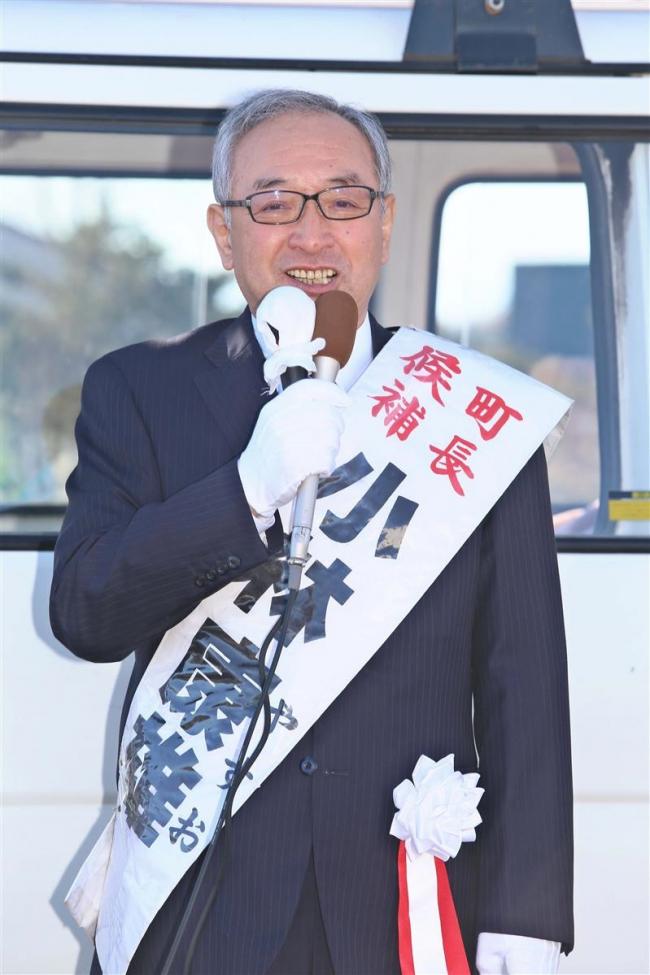 小林氏が第一声 無投票当選の公算大 士幌町長選