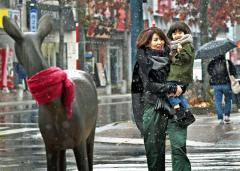帯広で初雪 昨年より27日遅く