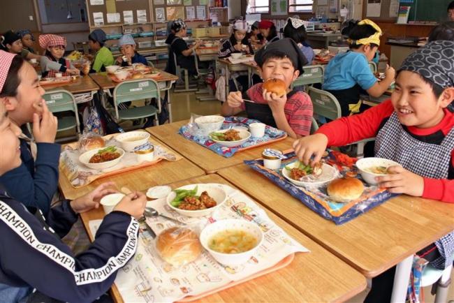 小中学校でふるさと味覚給食 中札内