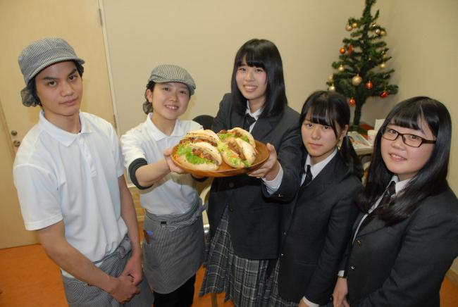 清水高生徒考案のパン発売 満寿屋麦音店