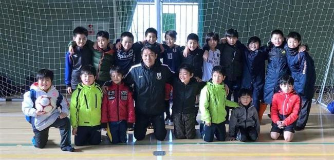 元コンサコーチの賀谷さん指導・サッカー教室