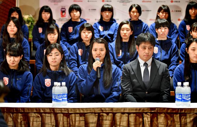 志賀主将ら日本代表会見で決意女子U18アイホケ世界選手権
