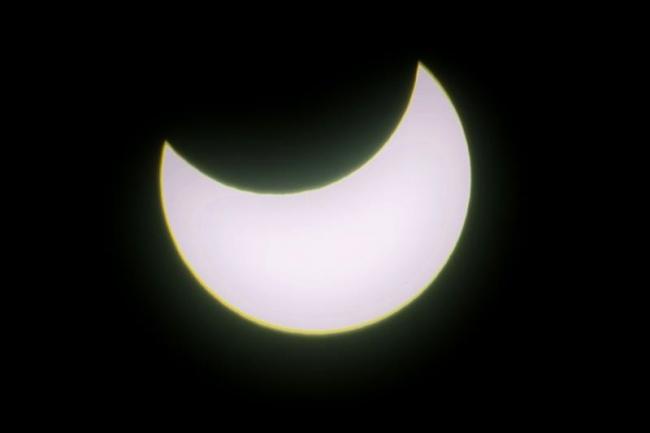 3年ぶりに部分日食 十勝でも観測