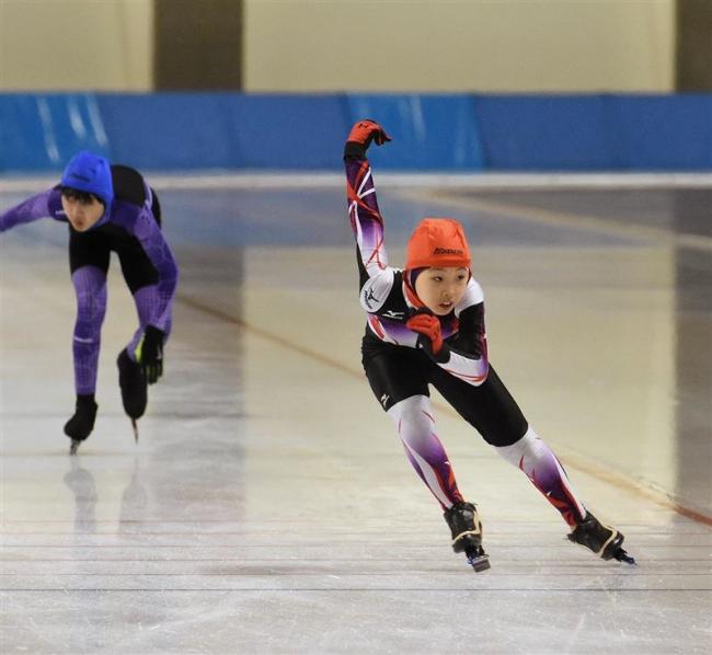 6年男子小坂、女子は山田総合V 帯広市少年団スケート大会