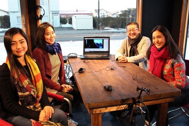 元ミス日本代表3人 冬の十勝を満喫