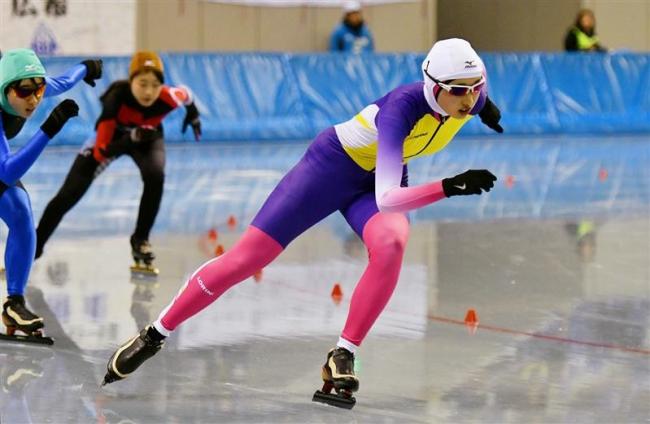 水戸咲良1500M予選首位通過 全国中学校スケート大会