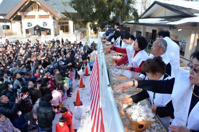 家内安全願う 帯廣神社で節分祭