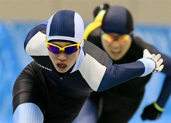 笠原光太朗全力滑走でV、男子5000M 全国中学スケート