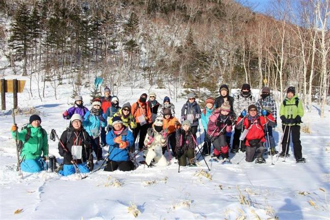 スノーシューで歩く冬山探検ツアー 鹿追