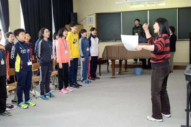 忠類中学校で新入生体験入学
