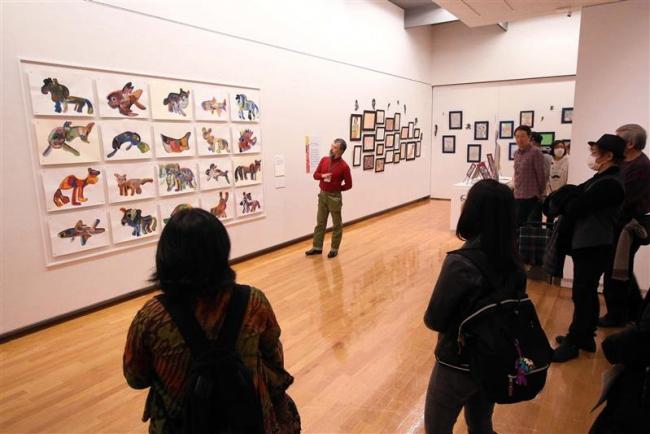 アール・ブリュット展でギャラリー・トークと創作体験