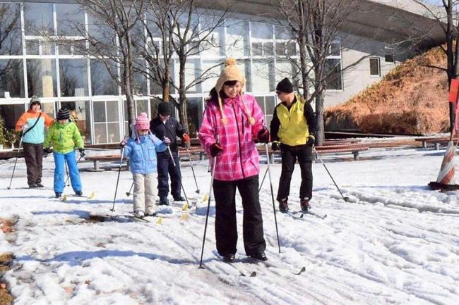 歩くスキーで体力づくり 池田