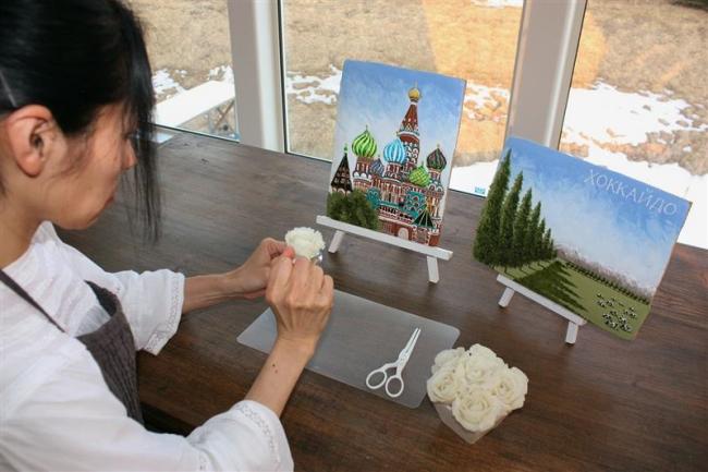 帯広の甲賀さんが手掛ける「ポテトフラワー」ロシアで紹介