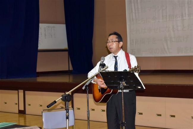 卒業生に歌でエール 芽室中程野校長