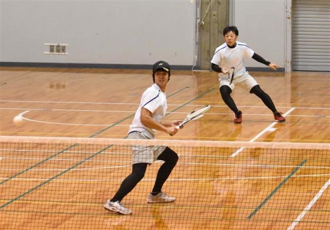名取・松本組逆転V、ソフトテニス道招待帯広インドア大会
