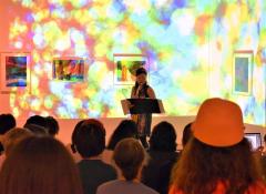 音と映像で彩り 道立帯広美術館でサックスと映像の演奏会