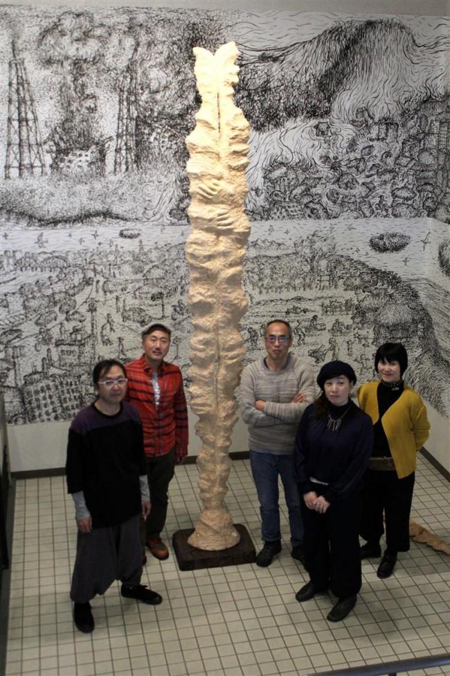 震災の思いを芸術で発信したい 豊頃の白濱さんらが札幌で震災アート作品展