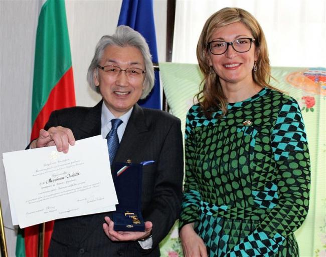 新得出身のオーケストラ指揮者及川さんにブルガリア外務省から「黄金の月桂樹」賞