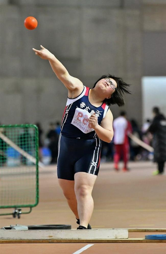 久保田砲丸14メートル44 清水300で最速35秒5 全十勝室内陸上競技大会