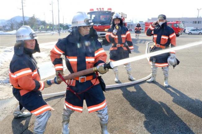 訓練日にフレックスタイム制 新得消防団