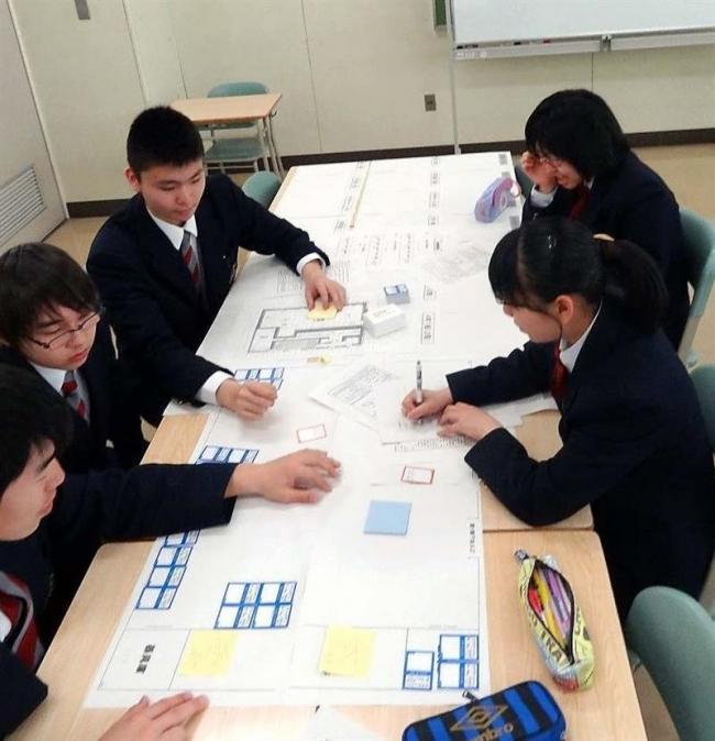 広尾高校生が避難所運営ゲーム体験