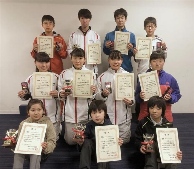 櫻井、女子は森下V18歳以下、全十勝室内ジュニアテニス大会