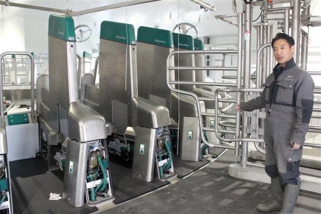 搾乳 全工程全自動で アジア初の最新ロボ 中札内の中島生産組合