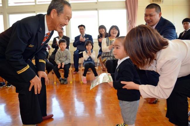 幼年消防クラブに1人仲間入り 浦幌