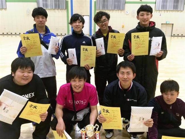 佐藤・大内組V 女子は橋詰・阿部組 全十勝インドアソフトテニス大会
