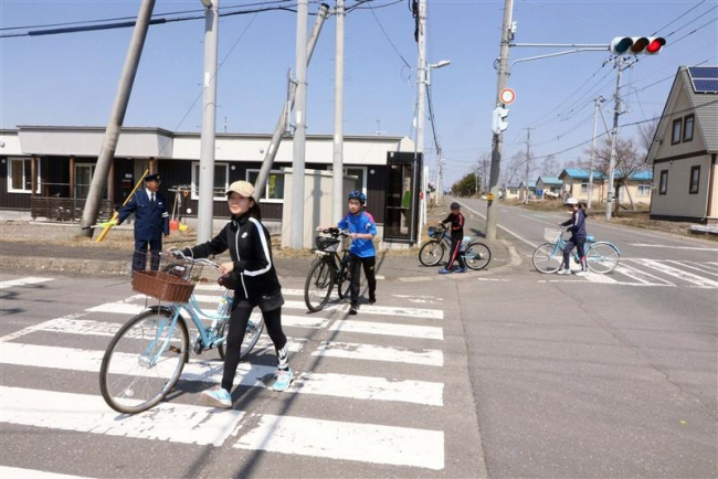上士幌小で交通安全教室